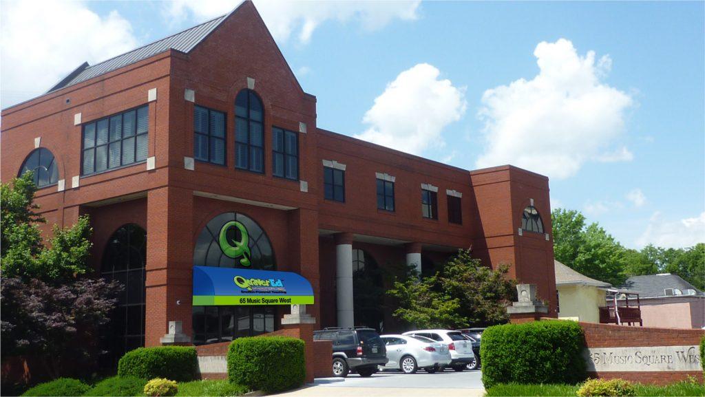 Image of the Nashville Building Entrance at 65 Music Square West in Nashville, TN.