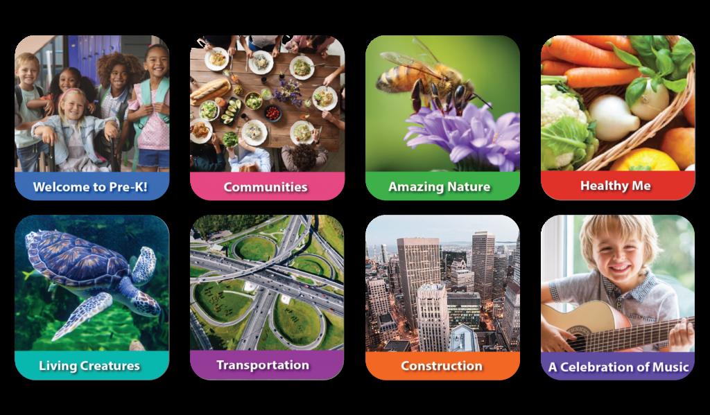 Eight themes in Quaver Pre-K Curriculum