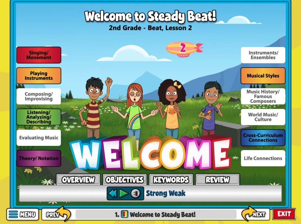 Welcome Screen to a  Lesson on Steady Beat