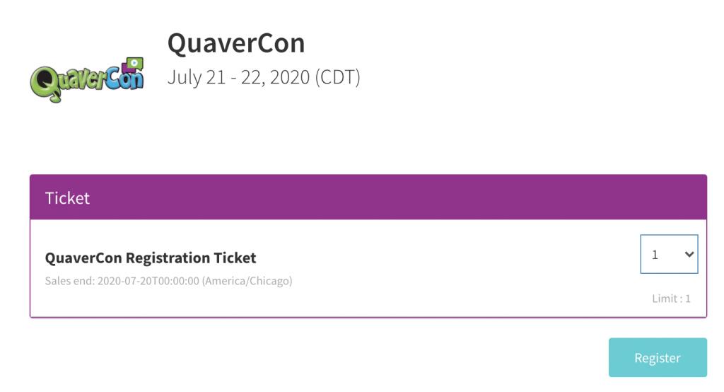 QuaverCon Registration