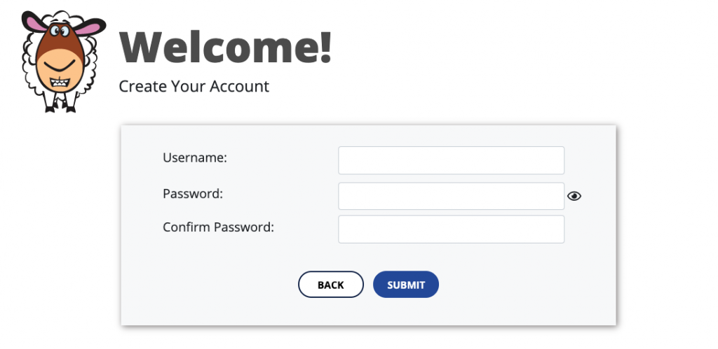 Welcome screen, create username for QuaverSEL