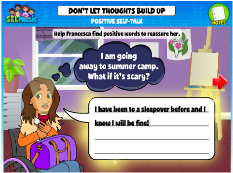 Image of the QuaverSEL activity Positive Self-Talk