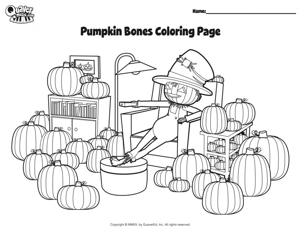 Image of the Pumpkin Bones coloring page