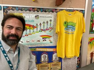 Image of Quaver teacher Kevin Strang in his classroom