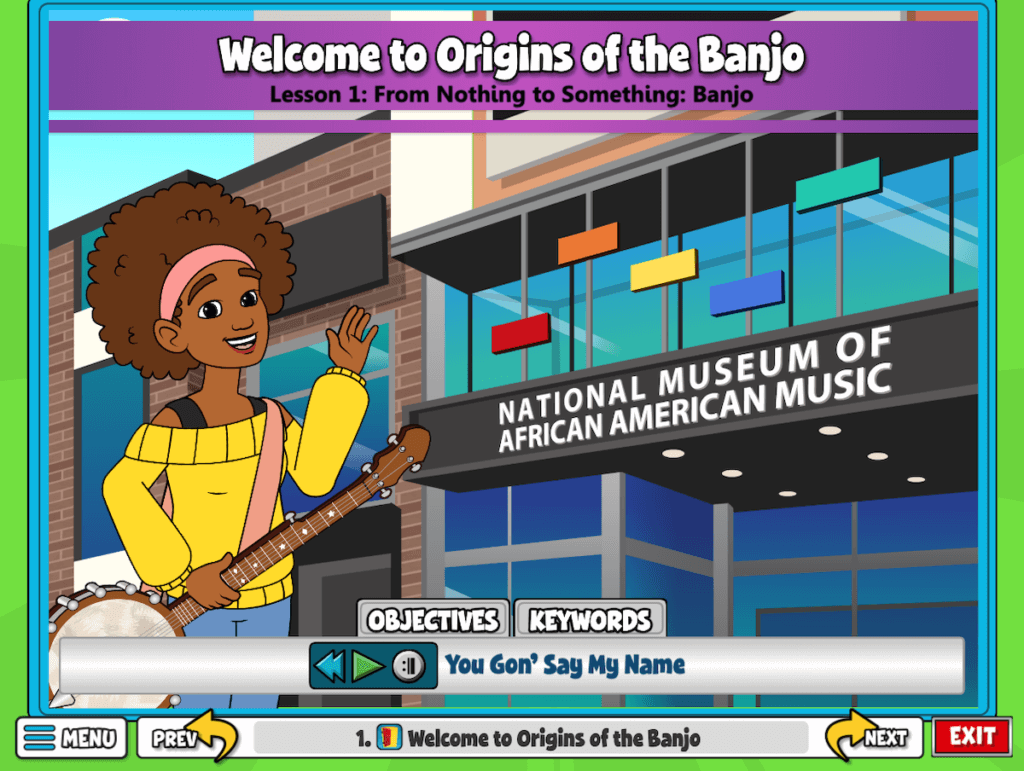 Found in the 4th and 5th grade curriculum, discover the origins of the banjo!