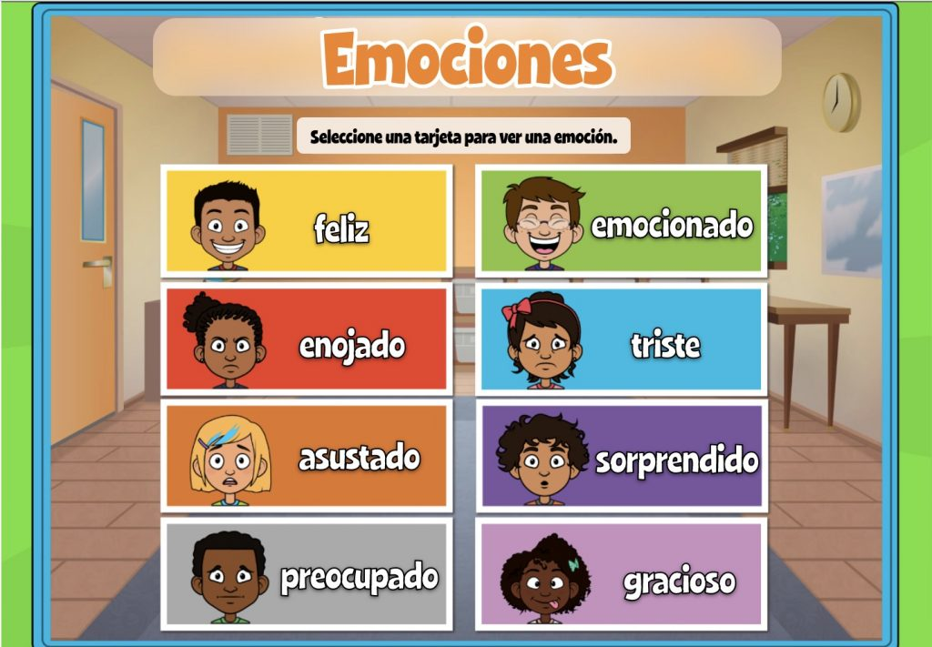 Emotions Activity for Pre-K Student in Spanish