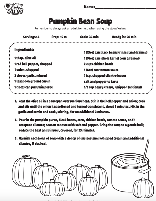 Make Your Own Pumpkin Bean at Home - Download the recipe card!