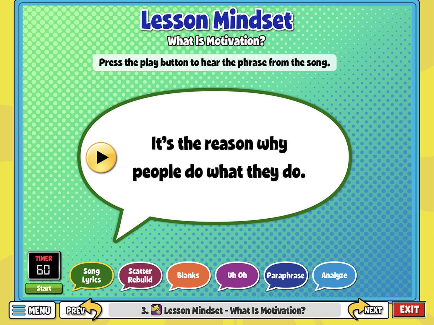 3. Lesson Mindset