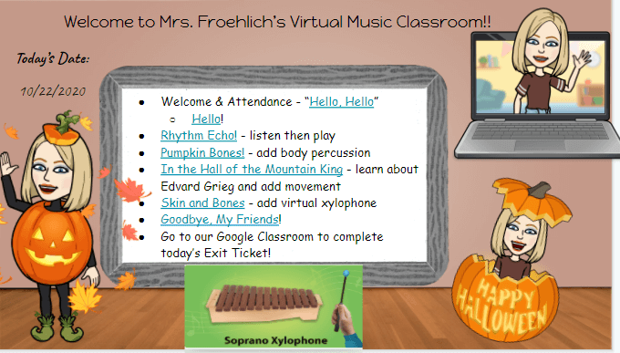 Carol Froehlich welcomes her virtual music students!