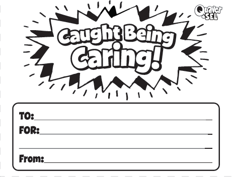 """Download and print these """"Caught Being Caring!"""" slips to encourage students to report acts of caring!"""