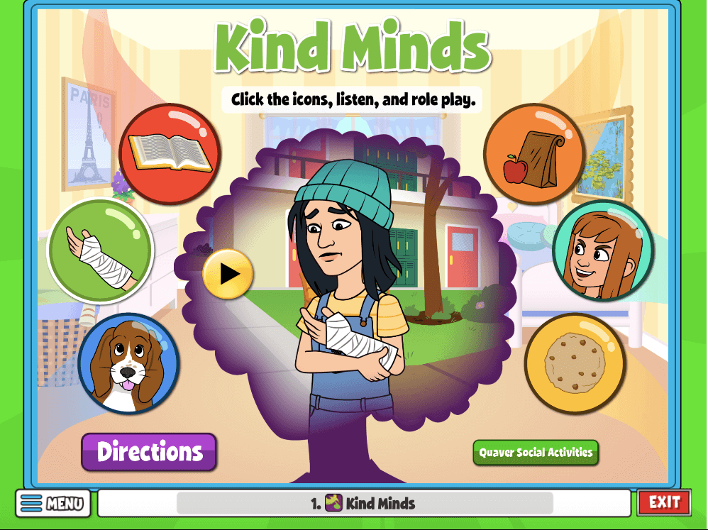 In this activity, students will listen to each scenario before acting out how they would express empathy and kindness in that situation.