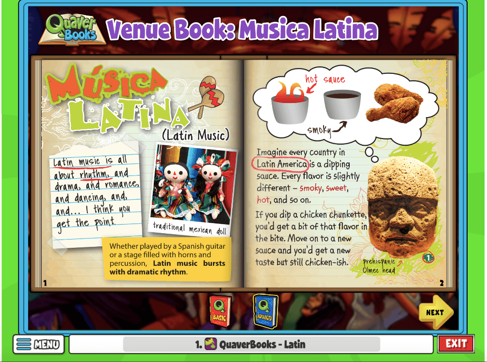 Venue Book Musica Latina is an activity on rhythm, romance and dance. Students can learn about the dynamic music style!
