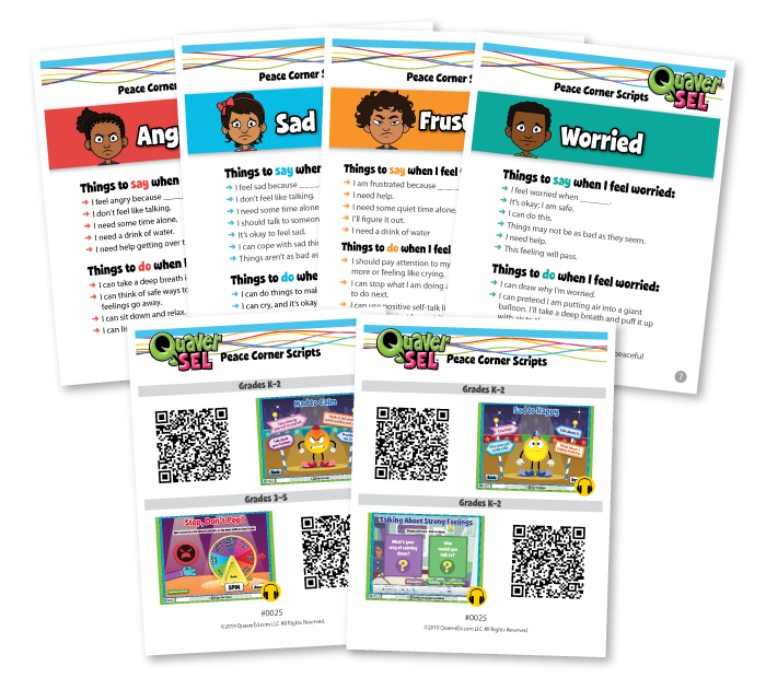 Peace Corner Scripts and Intervention Tools from Quaver SEL