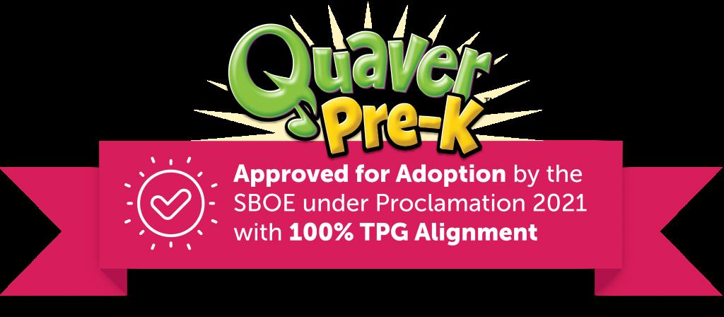 Logotipo de recomendación de Quaver Pre-K TEA