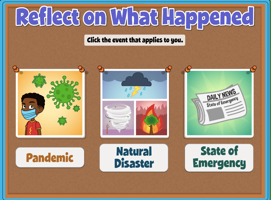 """Quaver SEL Plus Lesson: """"Reflect on What Happened"""" on difficult situations like Pandemic, Natural Disaster or State of Emergency."""