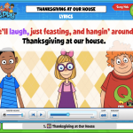 "Don't know the lyrics to ""Thanksgiving at Our House""? You can find them on Classplay Song Hub!"