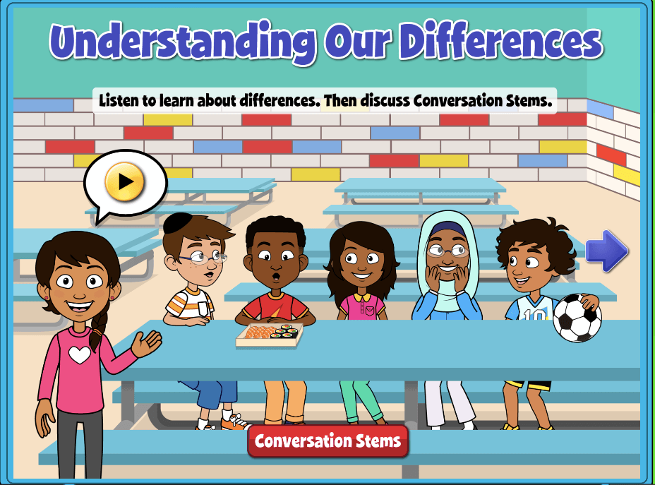 Understanding Our Differences Screen - Quaver SEL