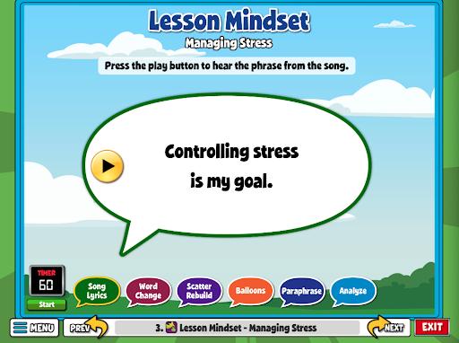 Lesson Mindset Stress Management